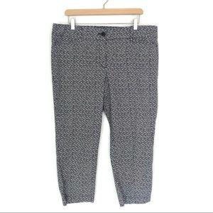 LOFT Outlet Pattern Ankle Pant Size 14